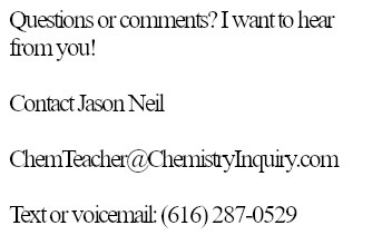 Contact Guided Inquiry Chemistry