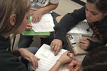 High School Students Working on Guided Inquiry Chemistry Lessons